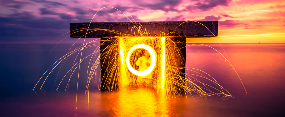 Steel Wool Spinning, Boca Grande, Florida