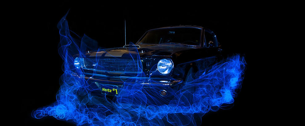 1966 Hertz Shelby, Long Exposure Light Painting